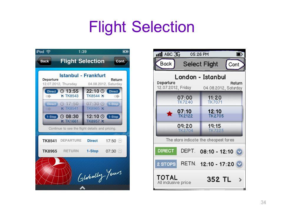 Flight Selection 34