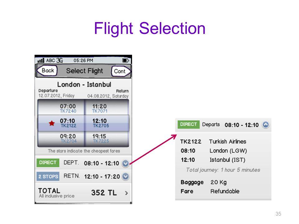 Flight Selection 35