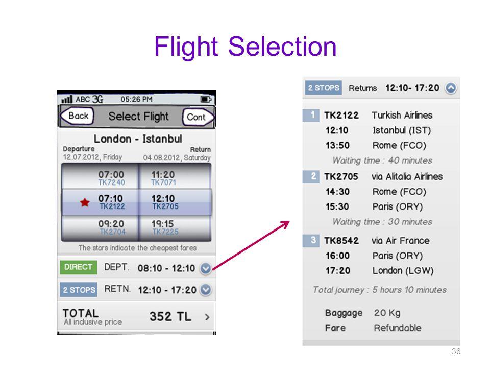 Flight Selection 36