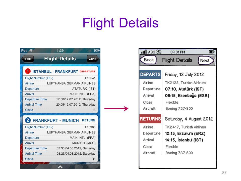 Flight Details 37