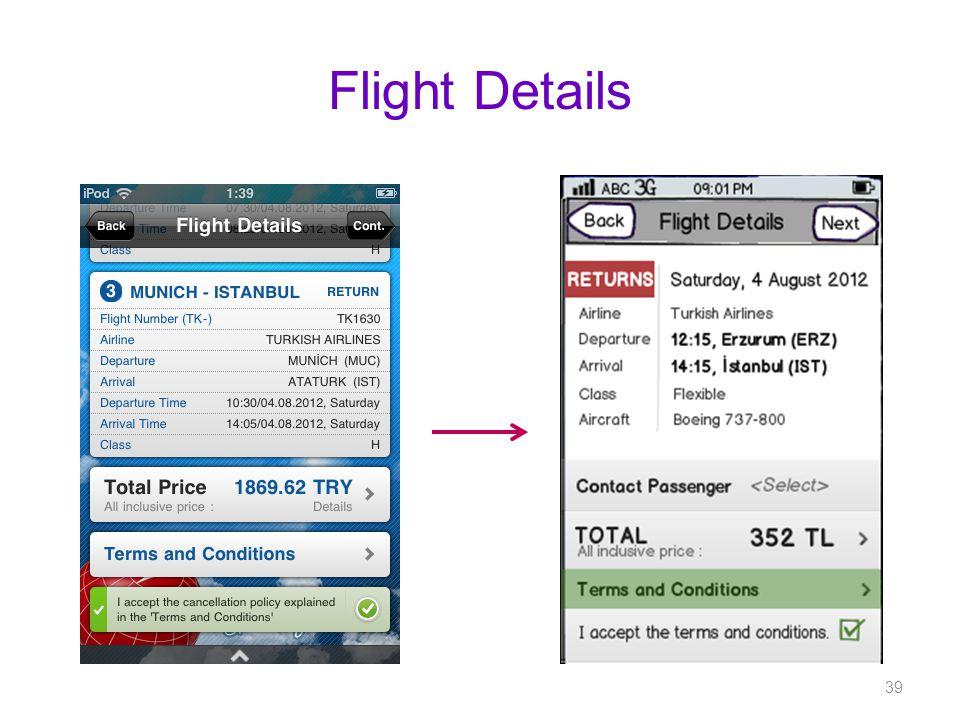Flight Details 39