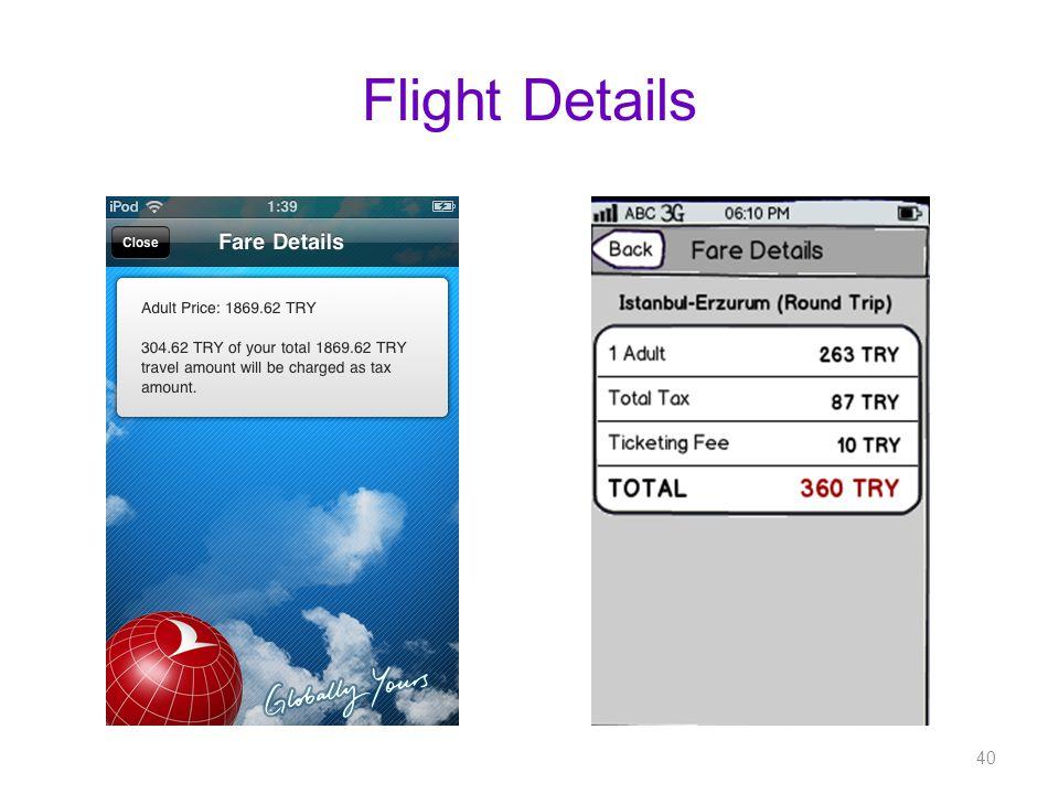 Flight Details 40