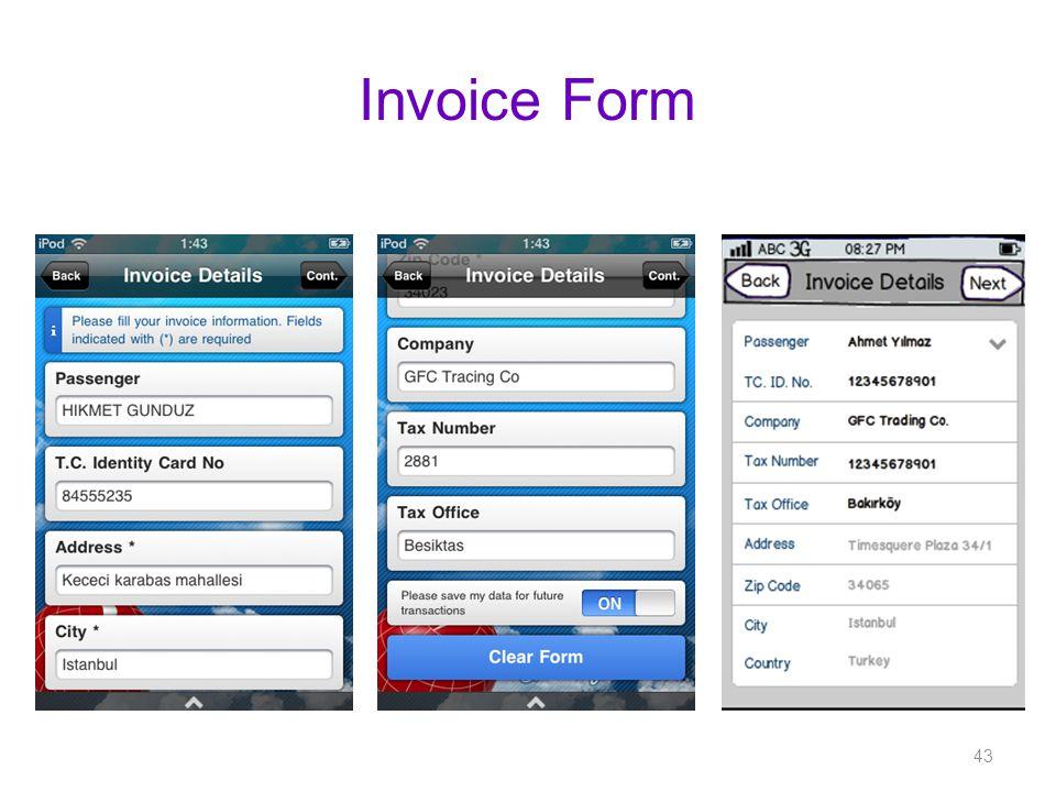 Invoice Form 43