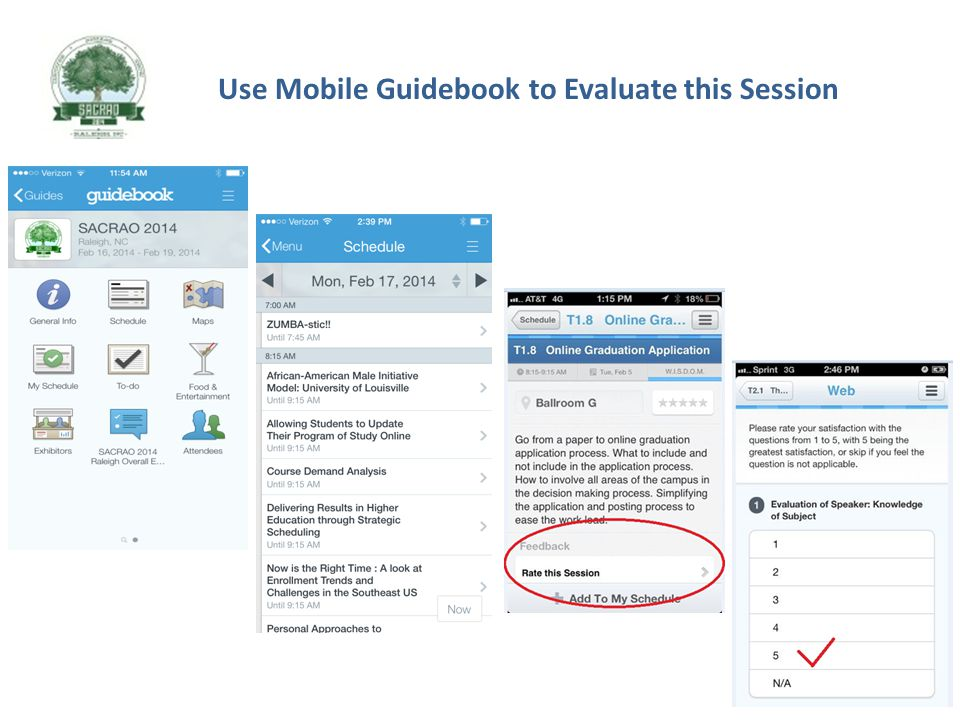 Use Mobile Guidebook to Evaluate this Session