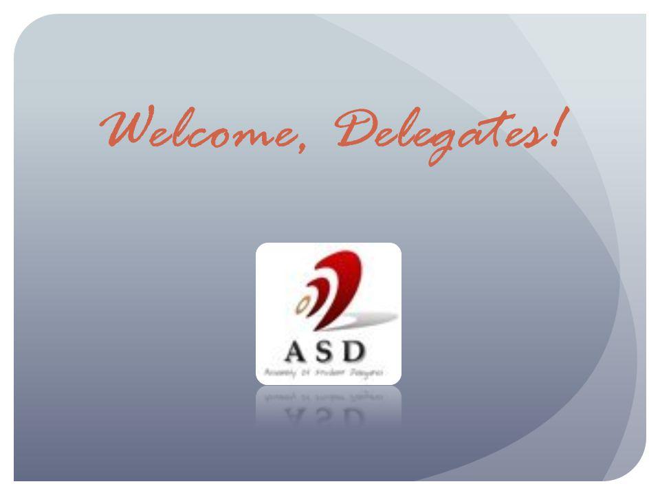 Welcome, Delegates!