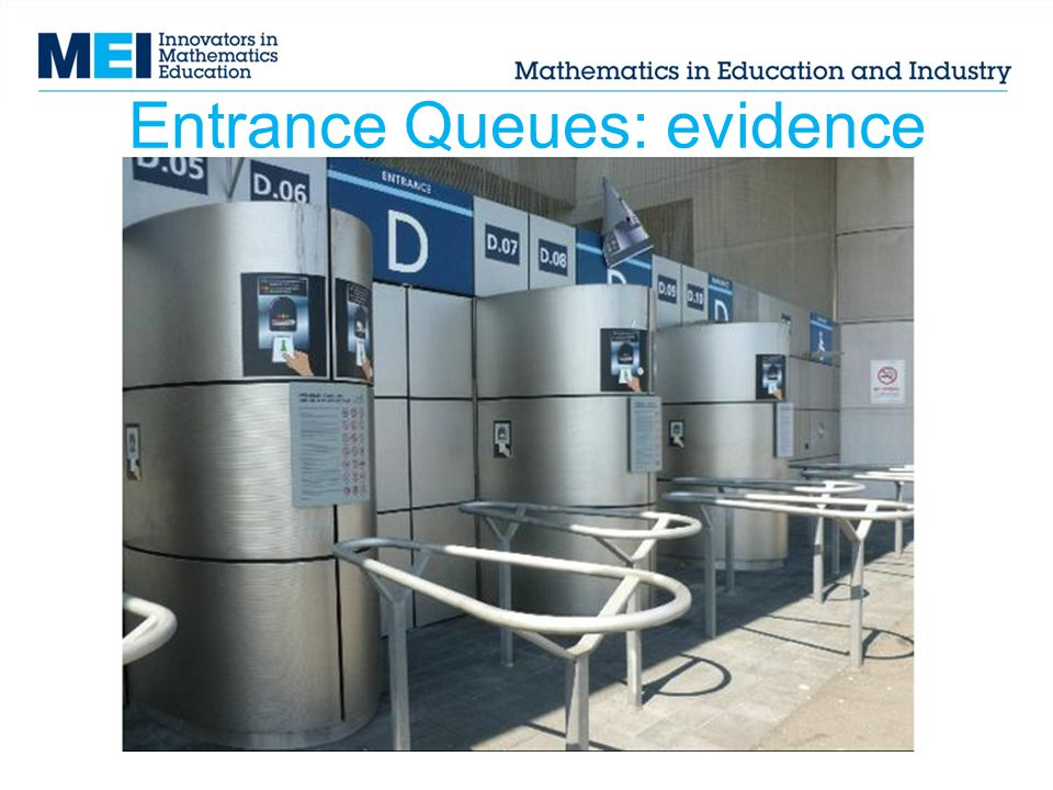 Entrance Queues: evidence
