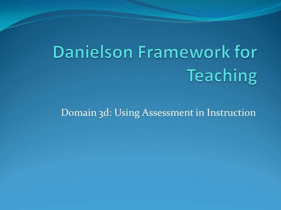 Domain 3d: Using Assessment in Instruction