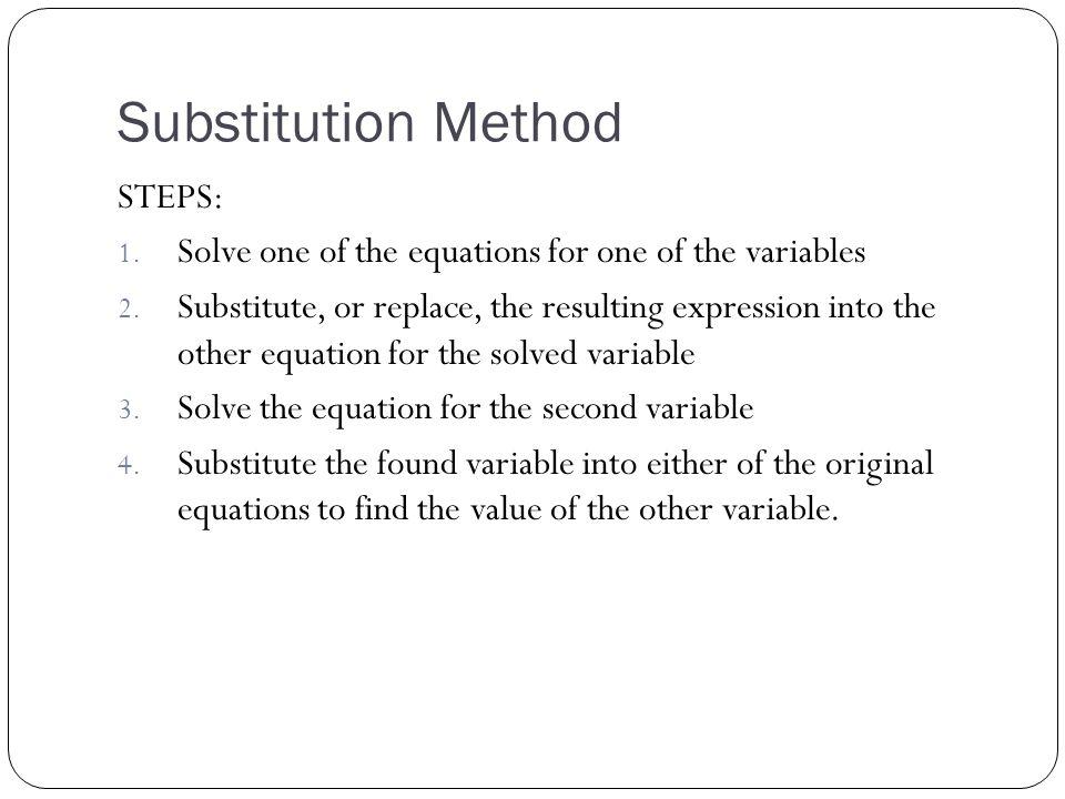 How do I write the solution.