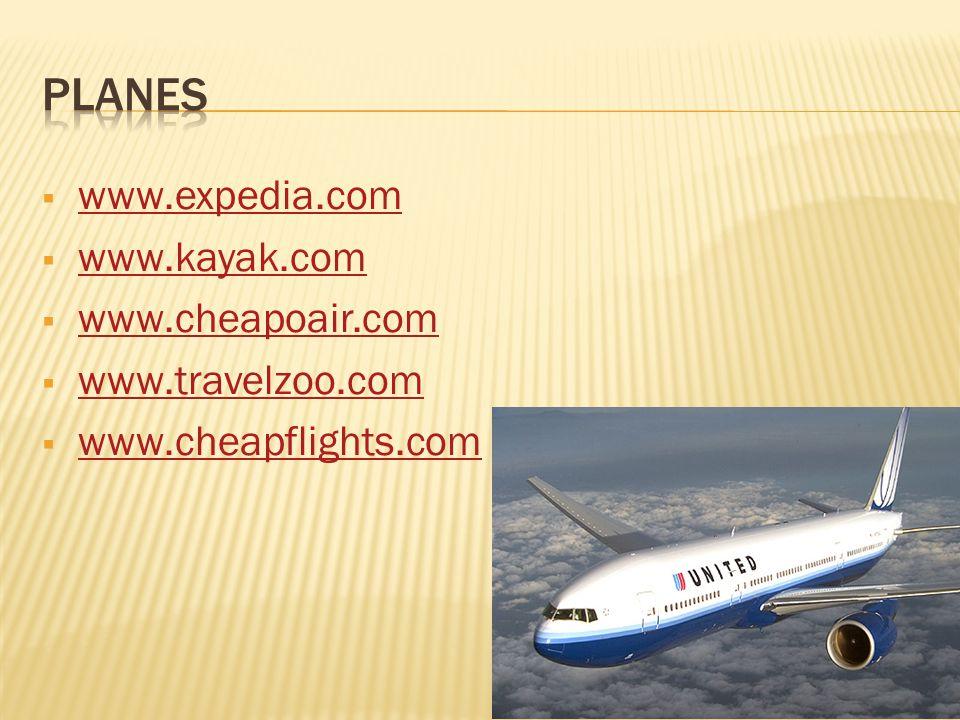www.expedia.com www.kayak.com www.cheapoair.com www.travelzoo.com www.cheapflights.com