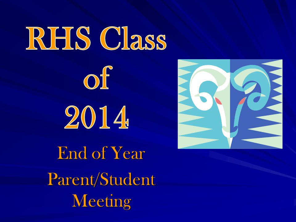 End of Year Parent/Student Meeting