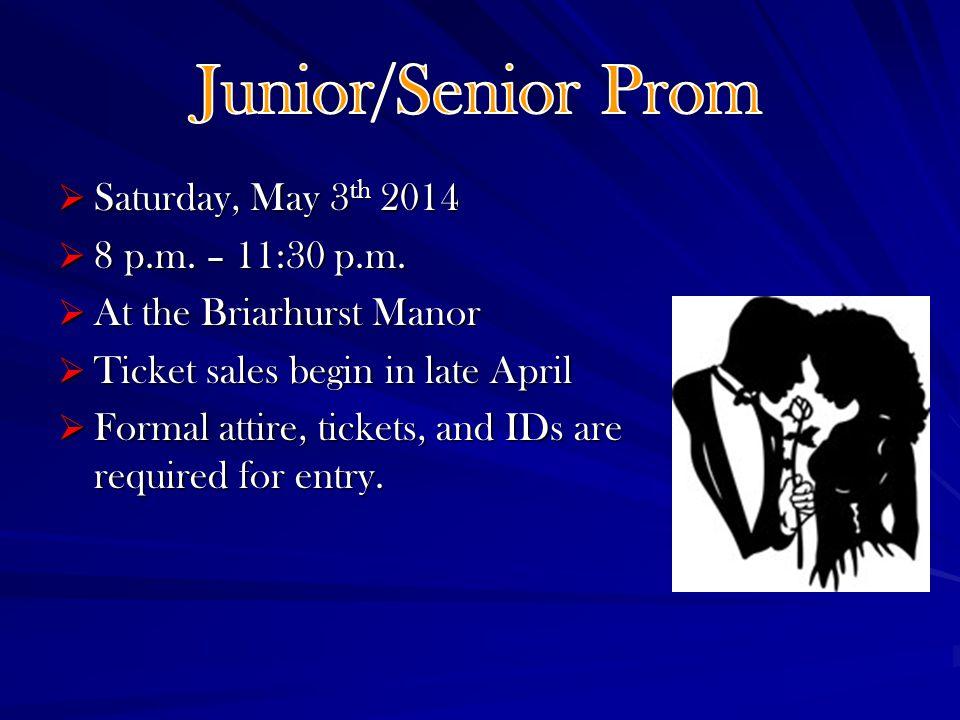 Saturday, May 3 th 2014 Saturday, May 3 th 2014 8 p.m.