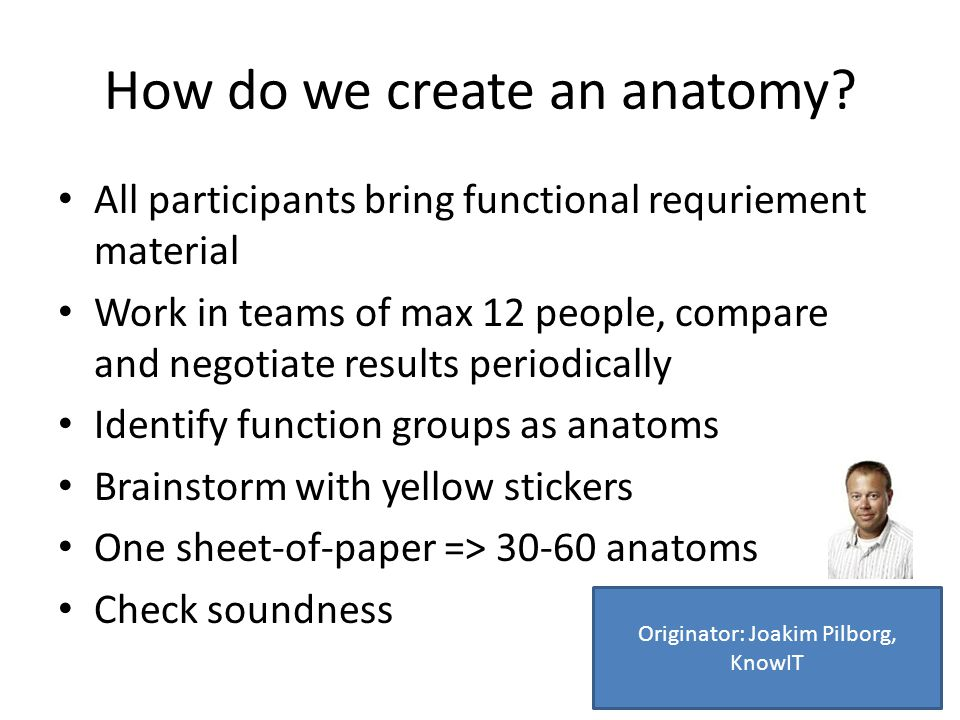 How do we create an anatomy.