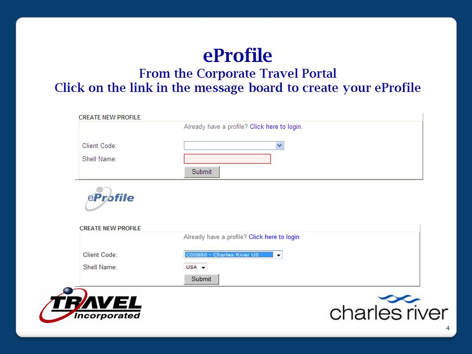 15 From the CRL iconnect Corporate Travel Page click on the link to go to the CRL Corporate Travel Portal