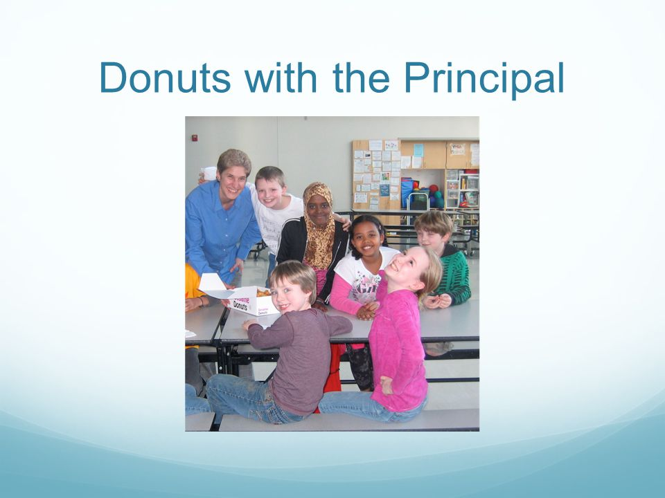 Donuts with the Principal