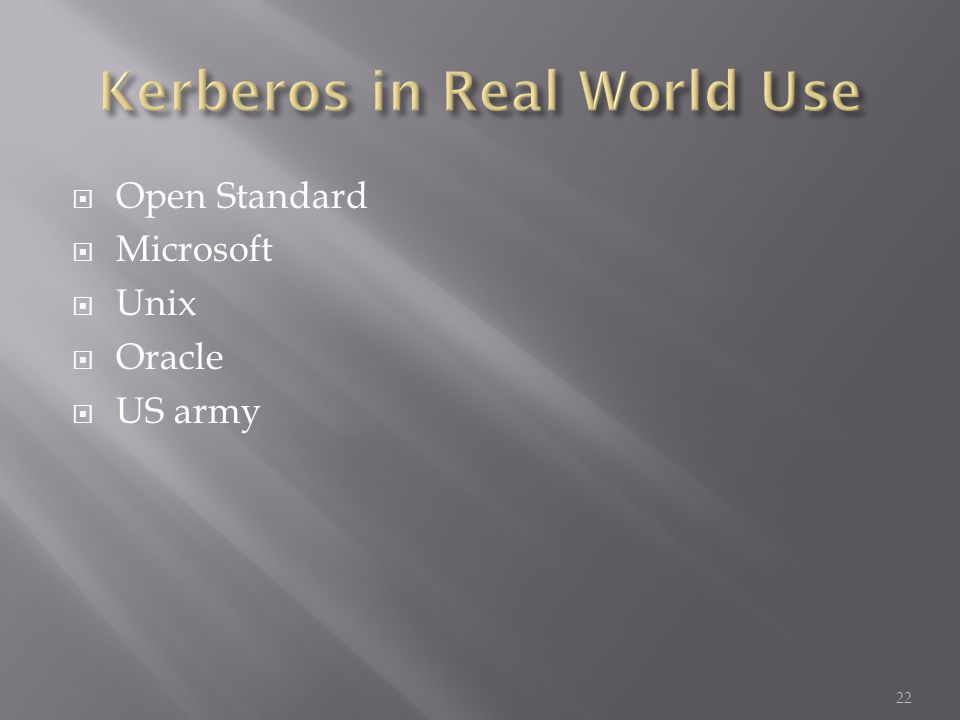Open Standard Microsoft Unix Oracle US army 22