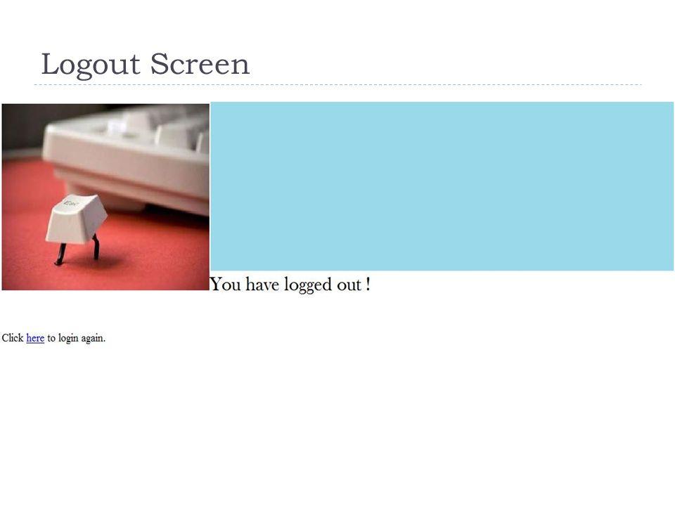 Logout Screen