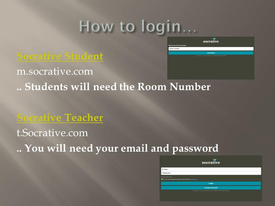 Socrative Student m.socrative.com..