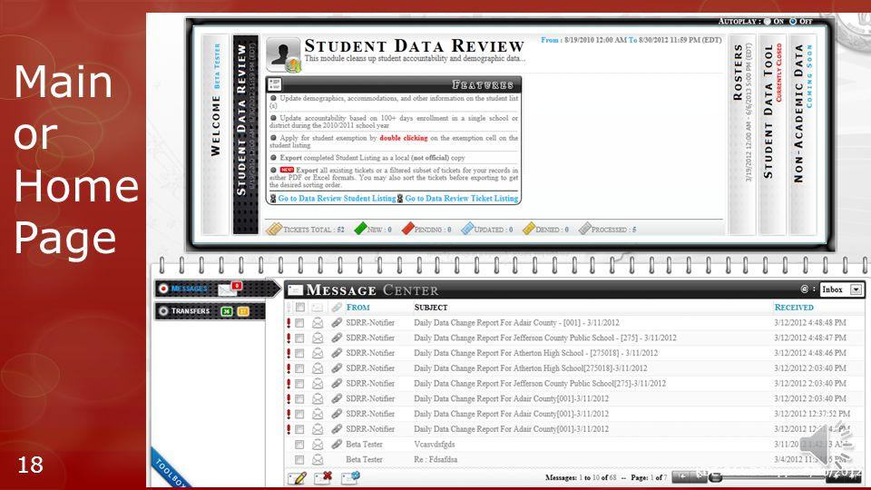 KDE:OAA:DSR:pp: 8/20/2012 17 https://oaa-adc.education.ky.gov Log In Panel