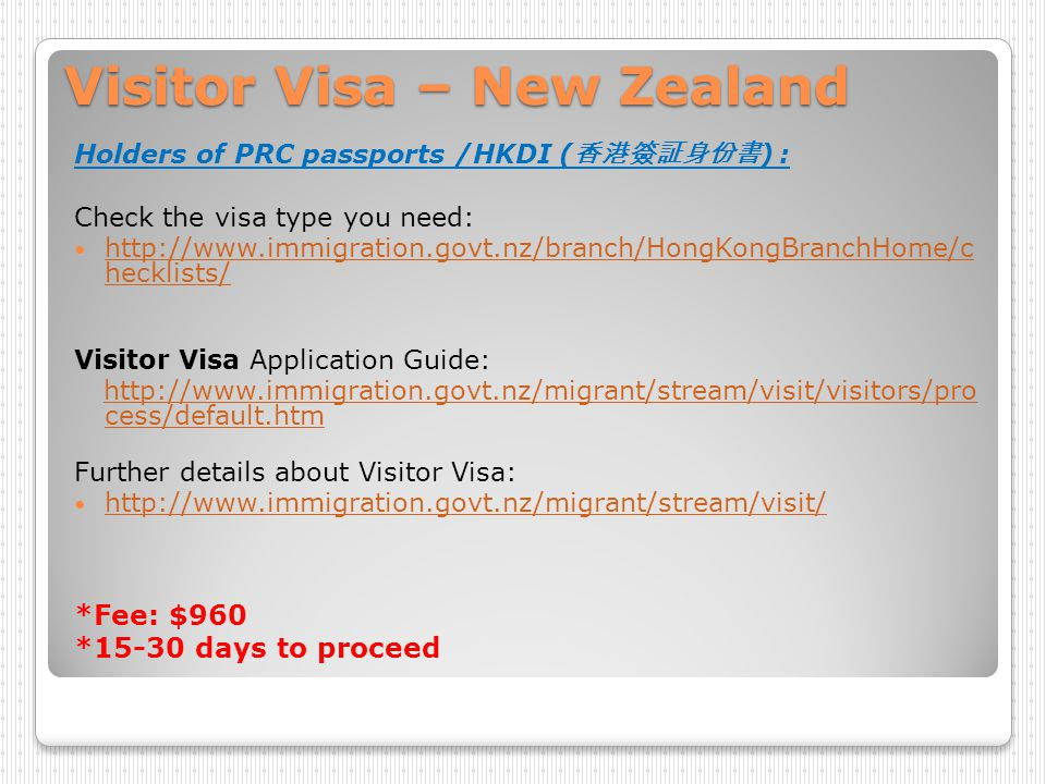 Medical check up – New Zealand Visitors stay within 3 months No Medical check up is needed http://glossary.immigration.govt.nz/healt hrequirementstemporary.htm http://glossary.immigration.govt.nz/healt hrequirementstemporary.htm