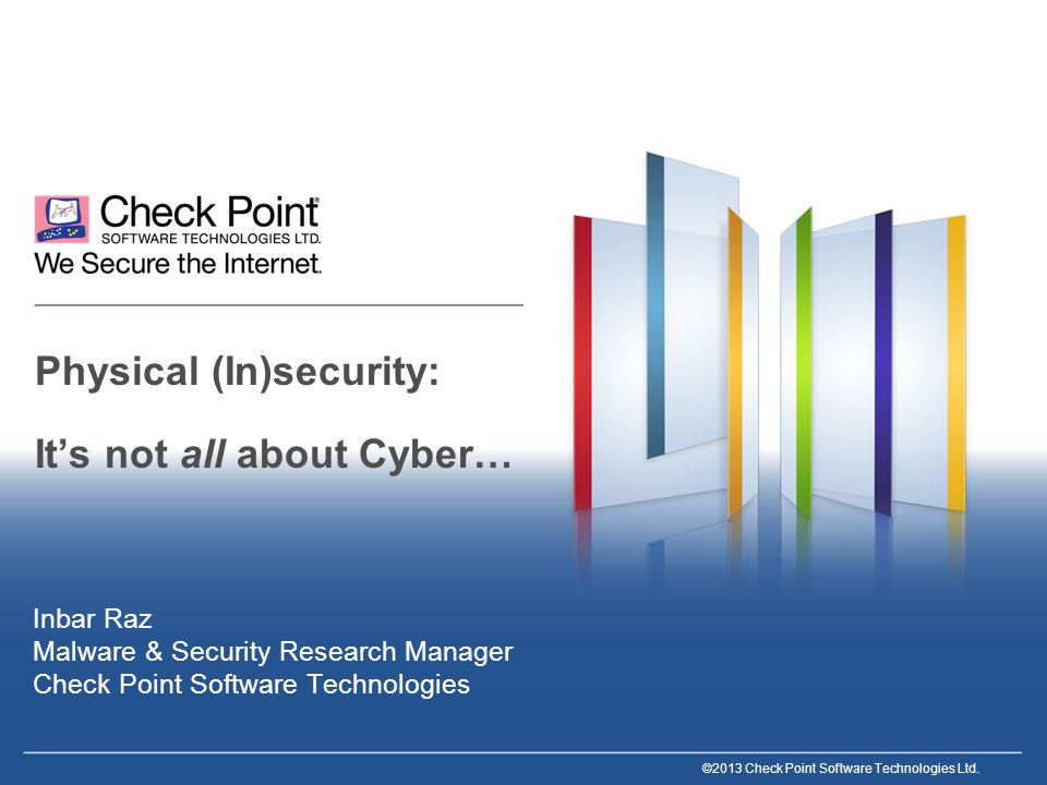 2©2013 Check Point Software Technologies Ltd.Background Who am I.
