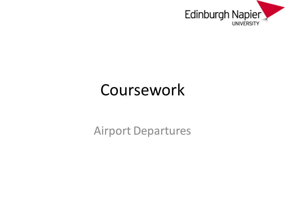 Coursework Airport Departures