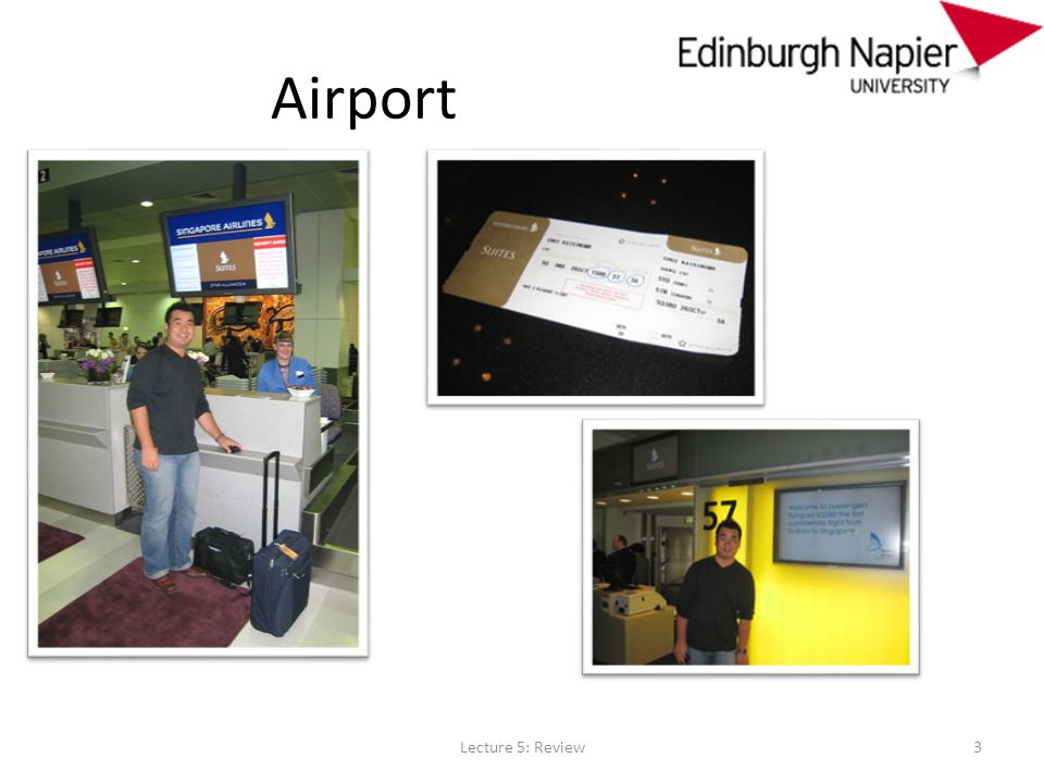 Airport Lecture 5: Review3