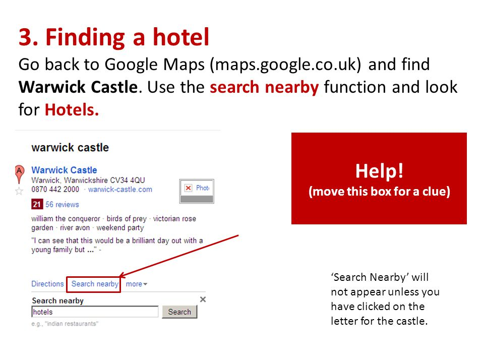 You should see a page like this.The Letters on the map are places that match your search.