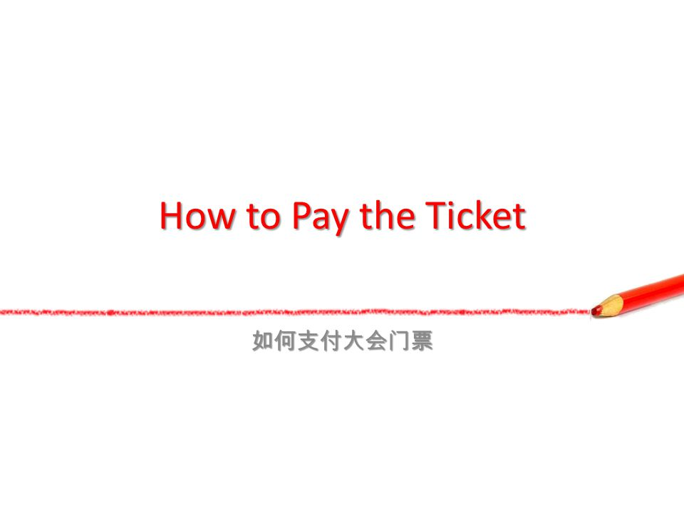 How to Pay the Ticket