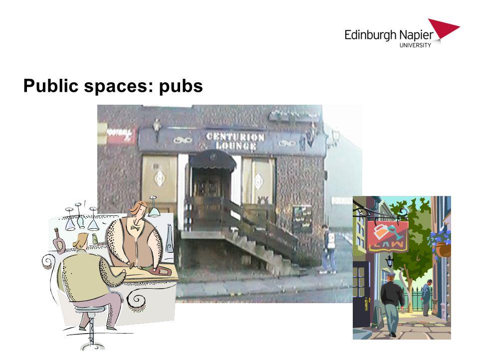 Public spaces: pubs
