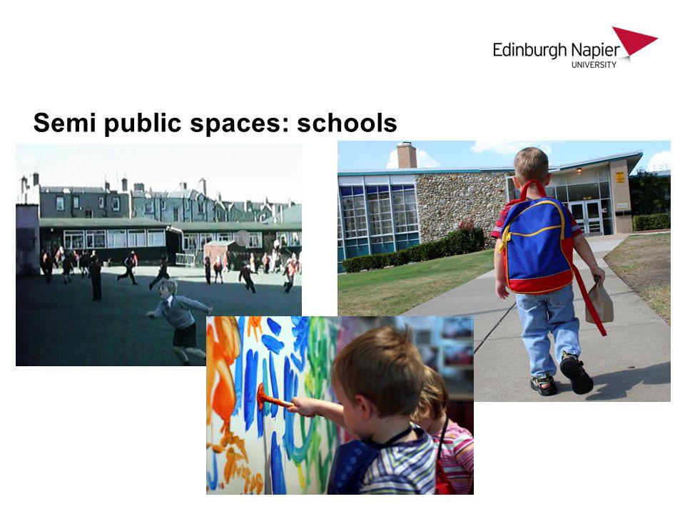 Semi public spaces: schools