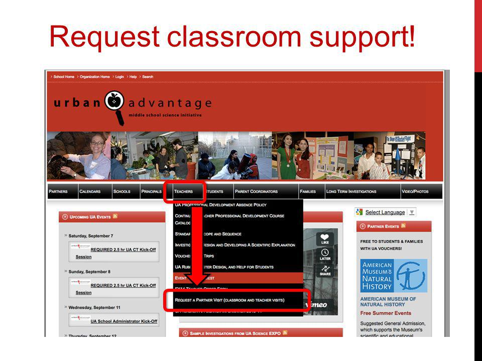 Request classroom support!