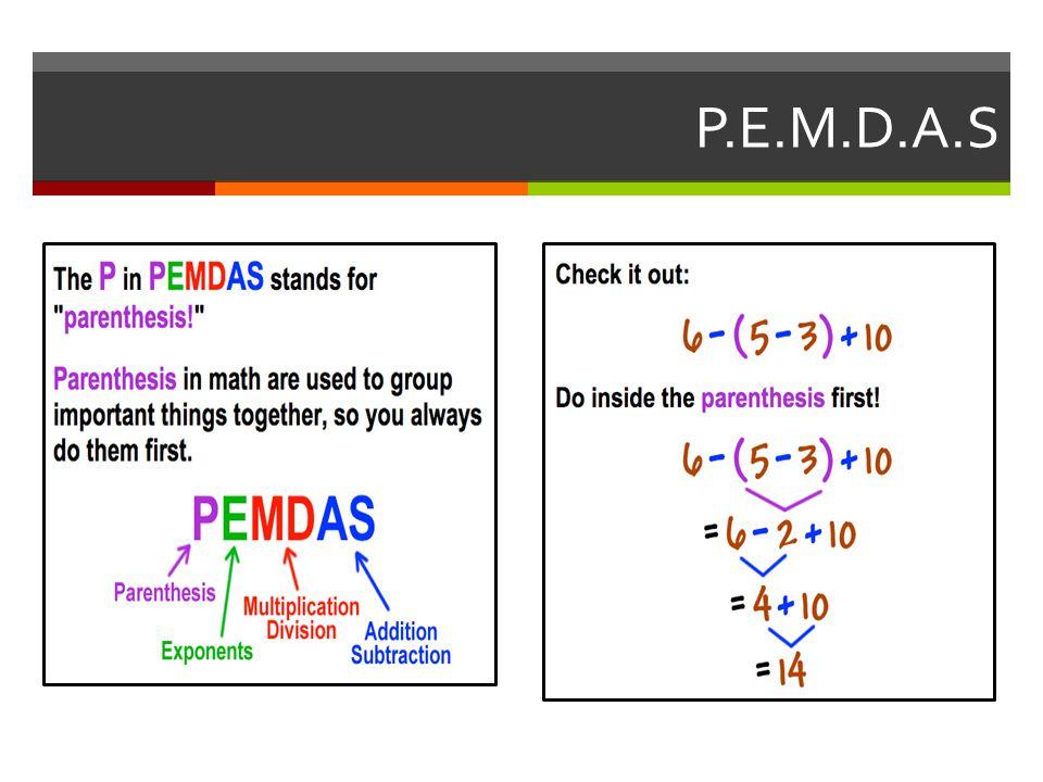 P.E.M.D.A.S