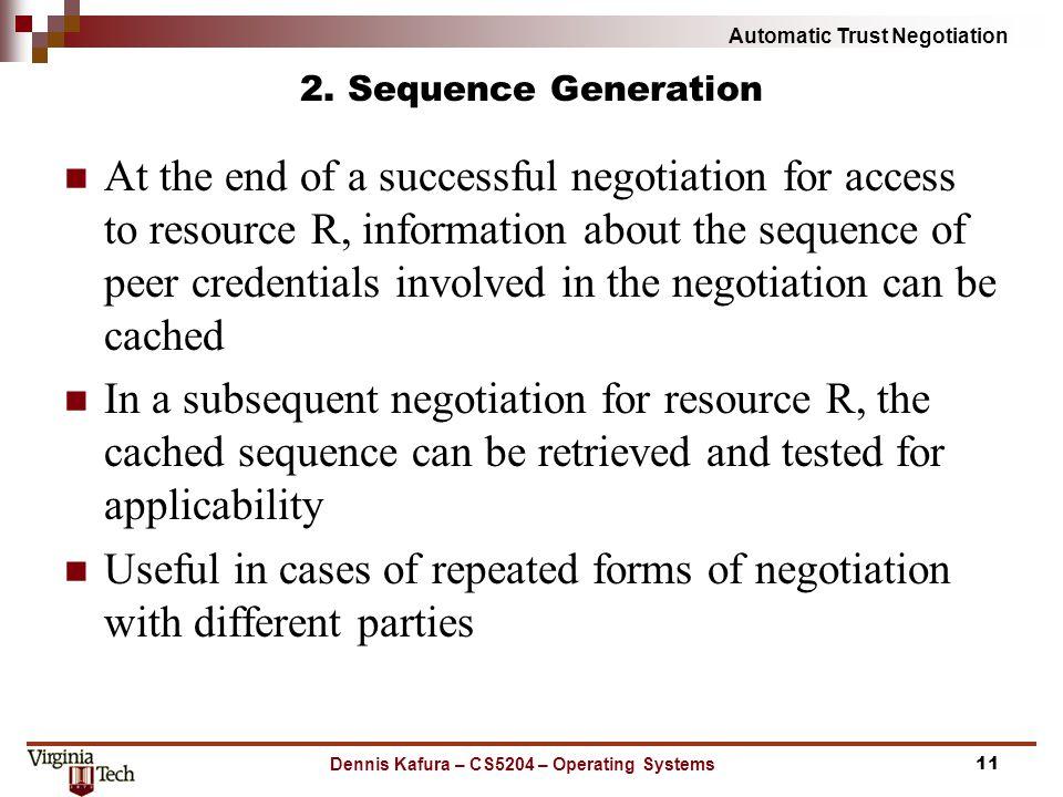 Automatic Trust Negotiation 2.