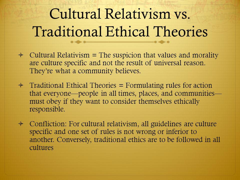 Cultural Relativism vs.