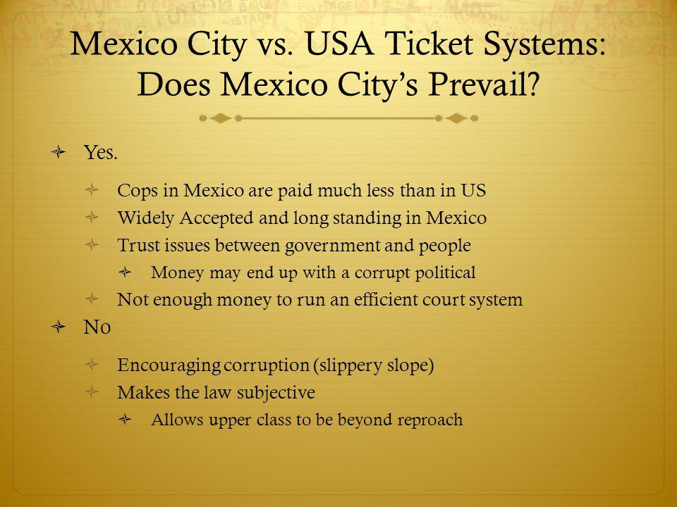 Mexico City vs. USA Ticket Systems: Does Mexico Citys Prevail.