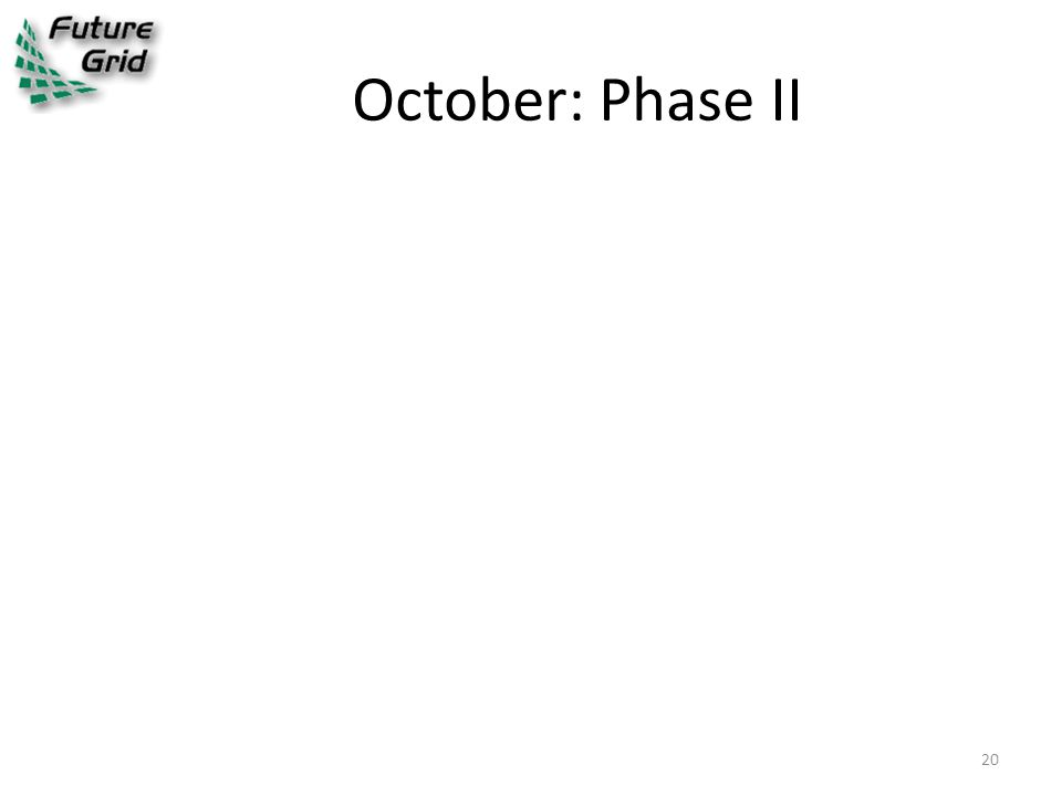 October: Phase II 20