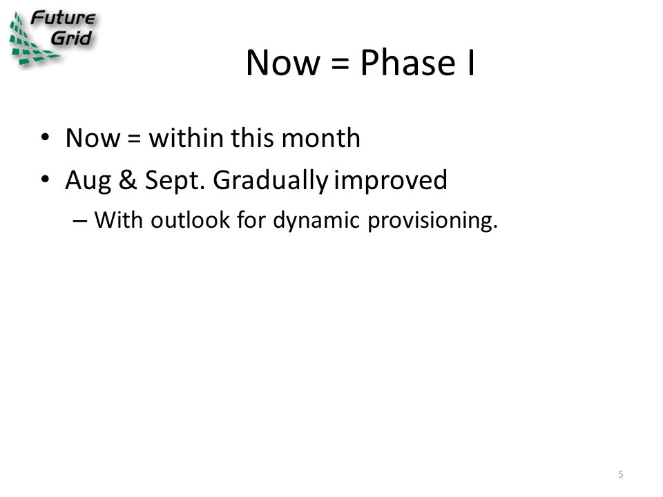 Now = Phase I Now = within this month Aug & Sept.