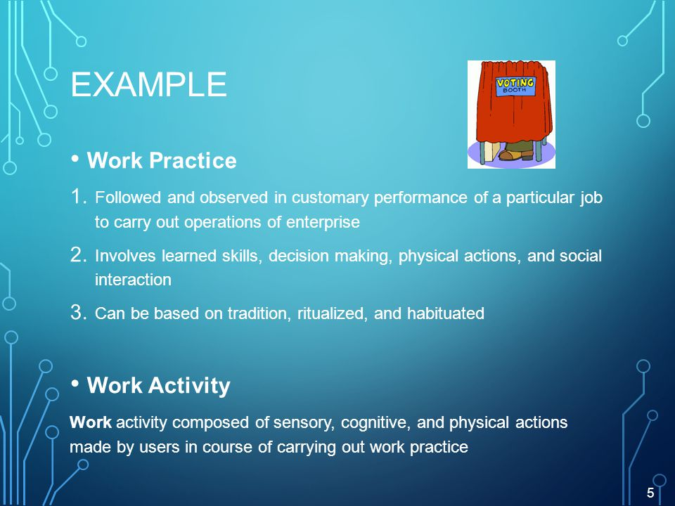 EXAMPLE Work Practice 1.