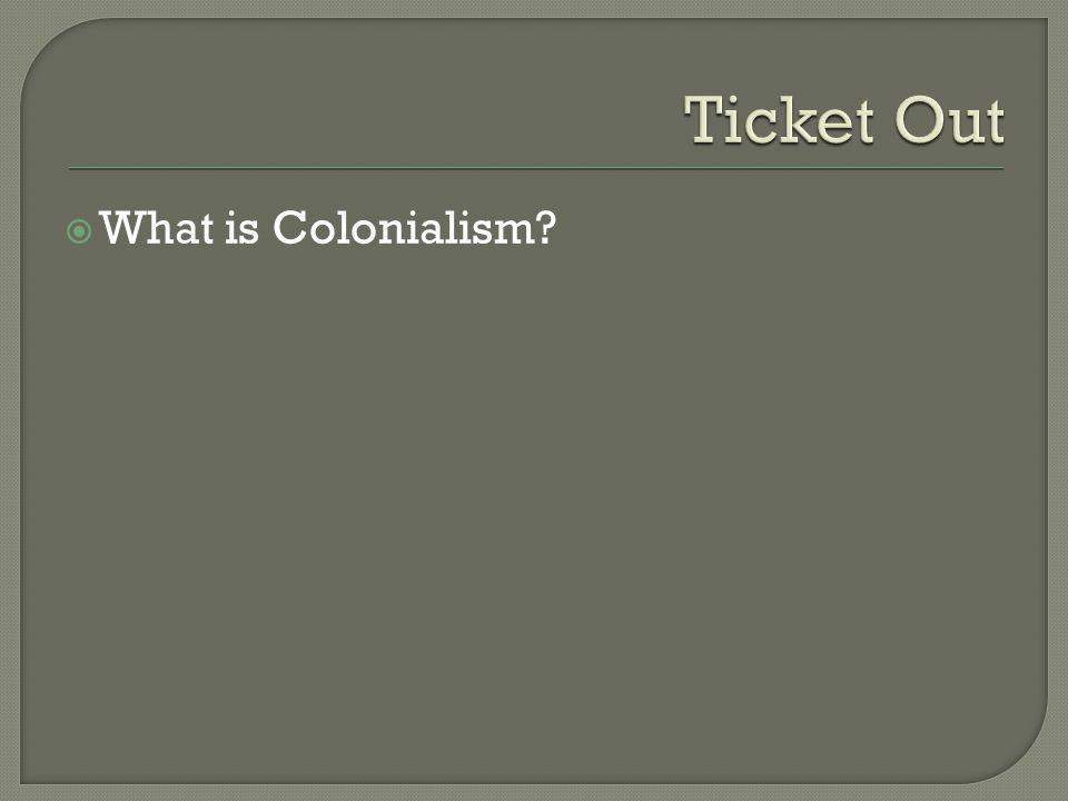 What is Colonialism