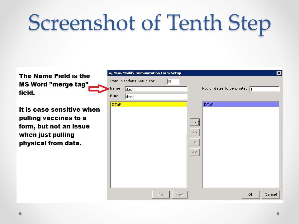 Screenshot of Tenth Step