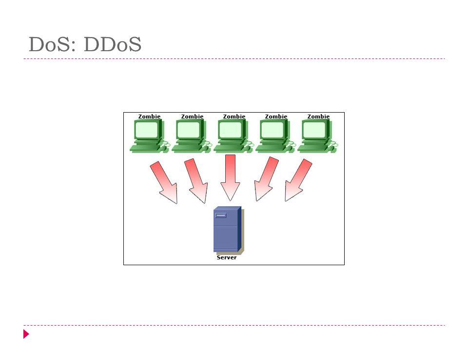 DoS: DDoS