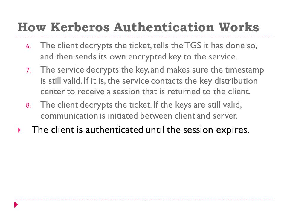 How Kerberos Authentication Works 6.