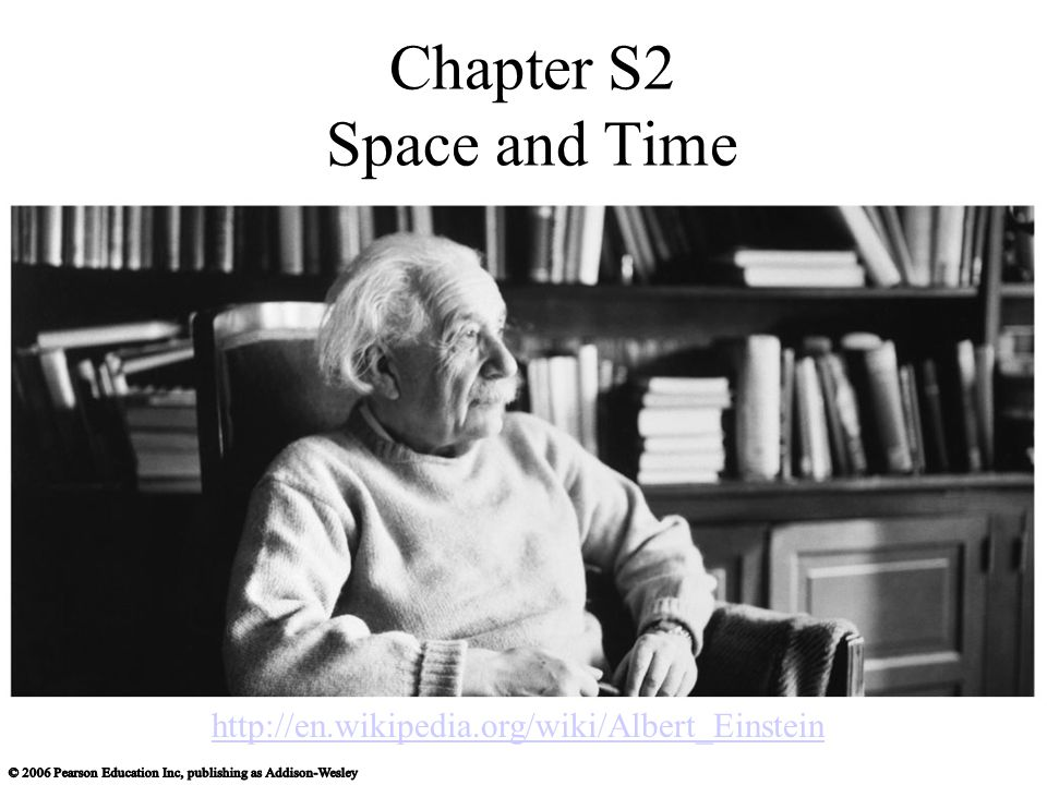 Chapter S2 Space and Time http://en.wikipedia.org/wiki/Albert_Einstein