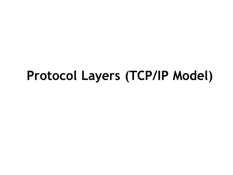 Protocols at the transport layer Transmission control protocol (TCP), Connection oriented Connection established before sending data Reliable user datagram protocol (UDP) Connectionless Sending data without establishing connection Fast but unreliable