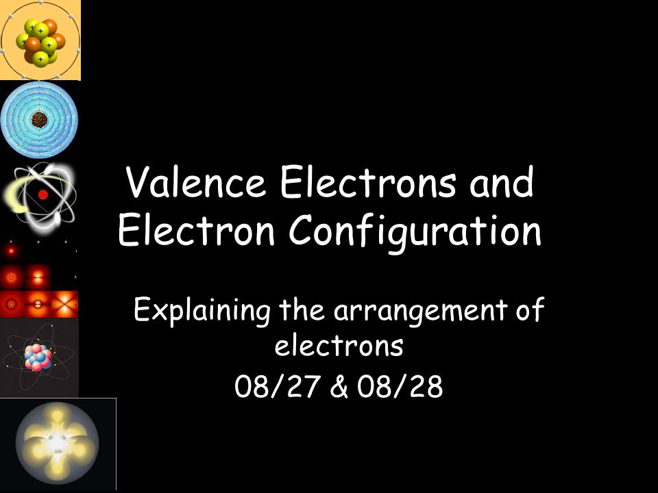 Valence Electrons and Electron Configuration Explaining the arrangement of electrons 08/27 & 08/28