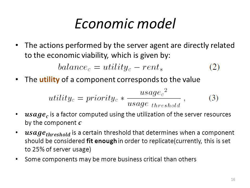 Economic model 16