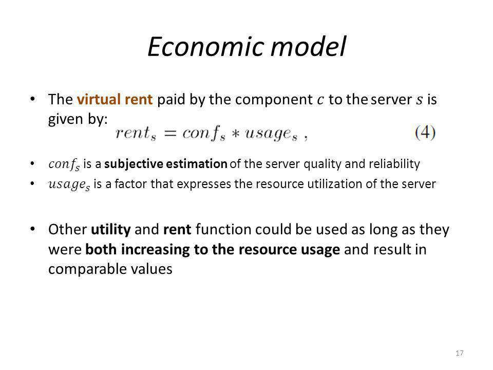 Economic model 17