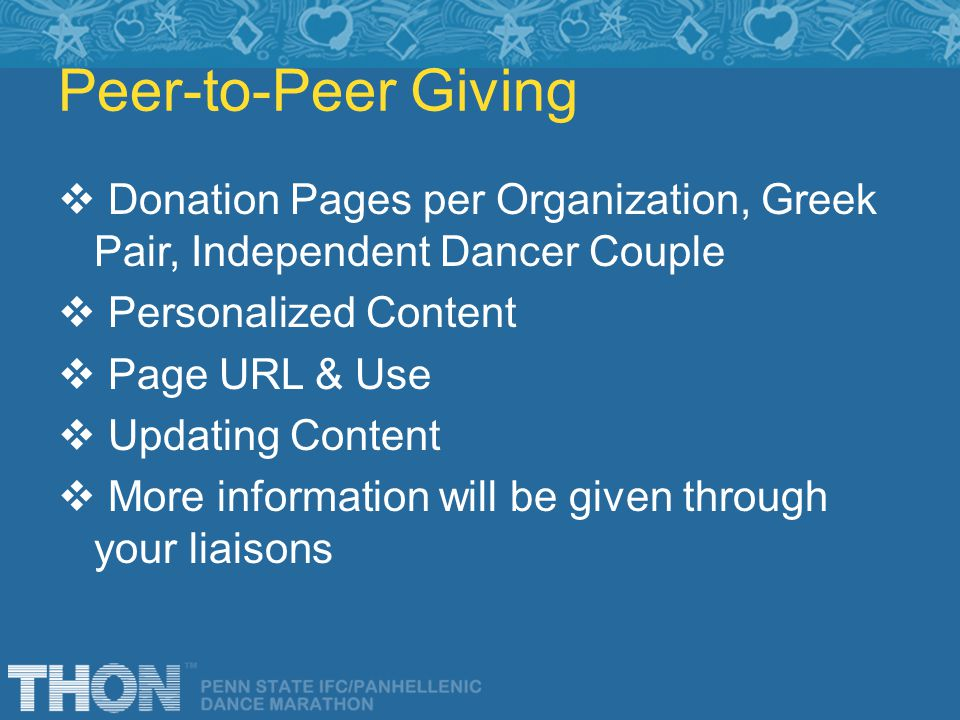 Peer-to-Peer Giving Donation Pages per Organization, Greek Pair, Independent Dancer Couple Personalized Content Page URL & Use Updating Content More i