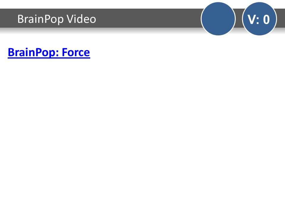 BrainPop: Force BrainPop Video V: 0