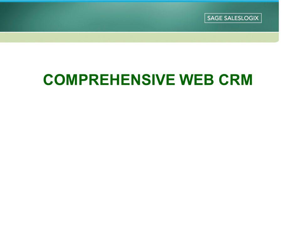 COMPREHENSIVE WEB CRM
